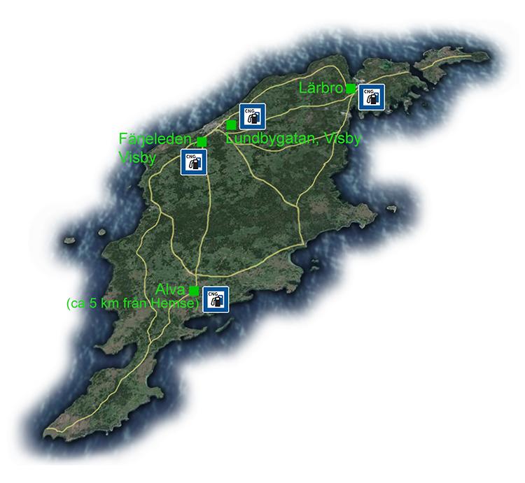 Biogas Gotland Hitta Tankstallen For Din Biogasbil